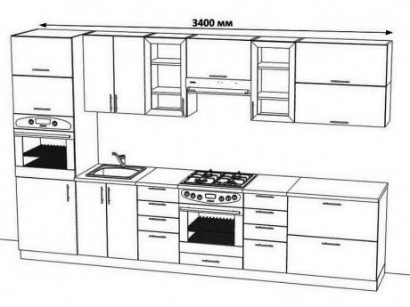Кухни дизайн чертежи 189
