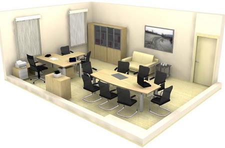 Правильно расставить мебель для офиса нужно не только для эстетики